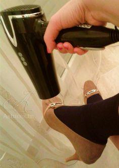 Élargir une paire de chaussures