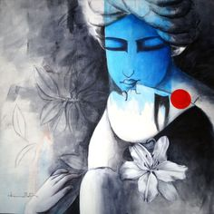 eternal love by artist kamal nath figurative art acrylic paintings - love painting images Indian Art Paintings, Art Drawings, Love Painting, Painting, Love Painting Images, Canvas Art, Krishna Painting, Canvas Painting, Figurative Art