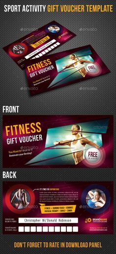 Sport Activity #Gift #Voucher 01 - #Cards & #nvites Print Templates Download here: https://graphicriver.net/item/sport-activity-gift-voucher-01/9222295?ref=alena994