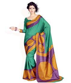 Miraan Art Silk Printed Saree SDE5081