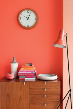 50 tips and living ideas for living room colors - Decoration Solutions Interior Desing, Interior Exterior, Interior Inspiration, Interior Paint, Color Inspiration, Living Room Color Schemes, Living Room Colors, Living Room Designs, Orange Rooms