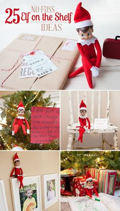 25 No-Fuss Elf on the Shelf Ideas from @Rebecca {simple as that} #elfontheshelf