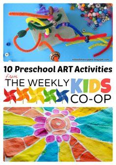 10 Preschool Art Activities from The Weekly Kids Co-Op - #kids #preschool #kidsart