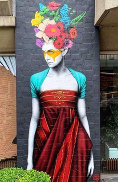 Fin DAC Murals Street Art, Graffiti Art, Graffiti Tagging, Mural Art, Urbane Kunst, Amazing Street Art, Wall Drawing, Chalk Art, Land Art