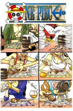 """À chacun et chacune son assiette de Pirates """"éHè"""" • Et LuffY qui n'en jamais assez pique dans l'assiette du Doc°Chøpper """"iHHiii"""" ~ ✏️ Modifier par : LolY ~ ⚓_Øne_Piece_⚓"""