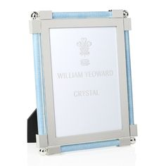 William Yeoward Crystal William Yeoward Classic Shagreen Photo Frame, 5 x 7 Picture Frames, Vibrant Colors, Light Blue, Presents, Crystals, Classic, Pictures, Home Decor, Tabletop