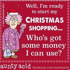 Aunty Acid Xmas humor #FinanceHumor