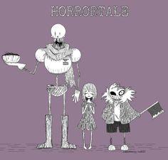Horrortale Sans, Papyrus and Frisk   Horrortale