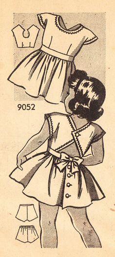 Vintage 1940s Sundress or Sunback Dress for by daisyepochvintage, $14.00