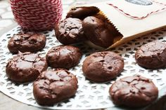 These flourless chocolate cookies are so rich...you only need to eat one to fulfill even your most serious chocolate craving! For real. The ingredients are minimal. I added a little Taza salted alm...