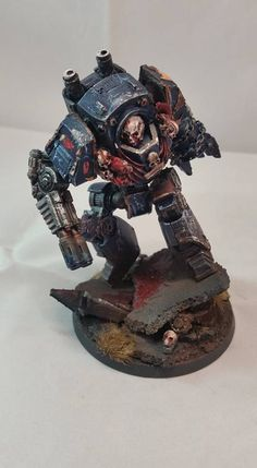 Night Lords Contemptor Dreadnought by Wesley Hynam of 30k Night Lords Players Facebook group