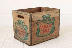 Canada Dry Soda Crate Wood Box