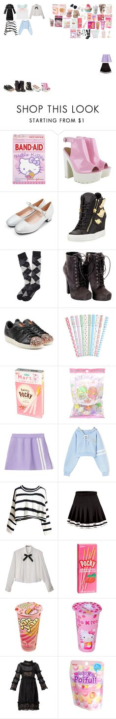 """Packing for Tour"" by kaelighoffical ❤ liked on Polyvore featuring Hello Kitty, Giuseppe Zanotti, Brooks Brothers, Dolce&Gabbana, adidas Originals, Aime, Aula Aila, AME, Sarmi and John Galliano"