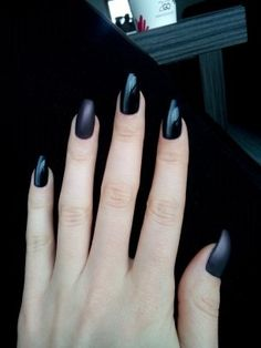 All black everything #nails