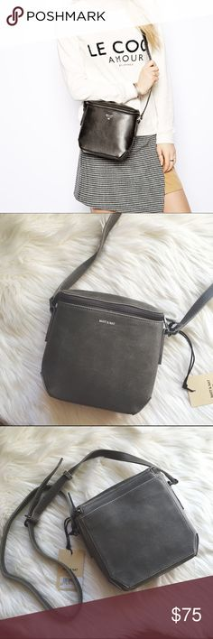 """Matt & Nat Gray Festival Messenger Bag 🐘 The perfect Crossbody bag by Matt & Nat a fully vegan line. Brand new about 9"""" x 8.5"""" YES to: Bundle Discounts NO to: Trades / Modeling / Holds 🌸 Happy Poshing!! 🌸 Asos Bags Crossbody Bags"""