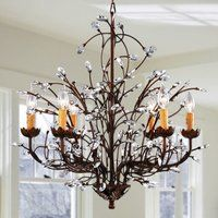 This stunning antique bronze chandelier is an eye-catcher that instantly becomes the focal point of any room. This six-light chandelier features bronze metalwork that creates the look of winding vines Bronze Chandelier, 5 Light Chandelier, Chandelier Makeover, Chandelier Crystals, Candle Chandelier, Ceiling Chandelier, Farmhouse Chandelier, Rustic Chandelier, Chandeliers
