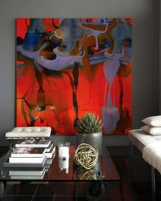 I love art that makes a statement.  This piece is a stand alone.  You don't need anything else with it.