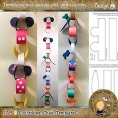 NEW! Fab 5 Countdown Chain by DesignZ by DeDe | #Disneytrip #Disney #countdown…                                                                                                                                                                                 More