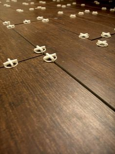 Porcelain tile that looks like wood flooring - genius!