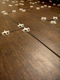 Porcelain tile that looks like wood flooring - genius!