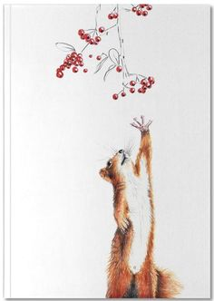 Squirrel as Premium Notebook by Janine Sommer   JUNIQE