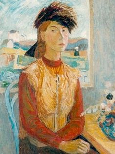 """""""Tove Jansson, Finnish artist and creator of the Moomins on the remote island of Klovharun, her summer for her and and her life partner graphic artist Tuulikki Pietilä for almost 30 years. Tove's Self Portrait, 1941 Art And Illustration, Moomin Books, Tove Jansson, Miss Moss, Galerie D'art, Louise Bourgeois, Sculpture, A Comics, Impressionism"""