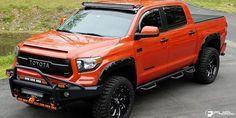 Orange Toyota Tundra