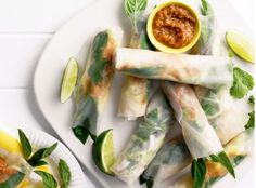 Easy Christmas Party Food Ideas - Satay Chicken Rice Paper Rolls - Click Pic for 20 Delicious Holiday Appetizer Recipes