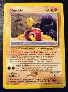 Shuckle (Neo Revelation - Bulbapedia, the community-driven Pokémon encyclopedia Pokemon Trading Card, Pokemon Cards, Clay Pokemon, Pokemon Silver, Power Work, Revelation 1, Stop Working, Deck Design, Yukata