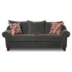 American Furniture Warehouse -- Virtual Store -- Textured Chenille Grey Sofa