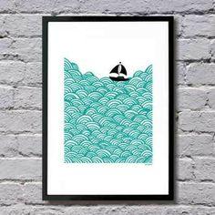 'Bigger Boat' giclee art print (A3) by Mengsel
