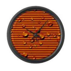 MehrFarbeimLeben: gold striped wet Large Wall Clock: Measuring an impressive 17 Pattern Dots, Gold Stripes, Clock, Wall, Home Decor, Watch, Homemade Home Decor, Clocks, Decoration Home