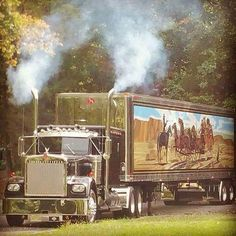 Jerry Reed would be proud! Big Rig Trucks, Semi Trucks, Cool Trucks, Custom Big Rigs, Custom Trucks, Custom Cars, Trailers, Freight Truck, Smokey And The Bandit