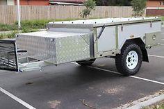 NEW OFF Road Front Forward Hard Floor Camper Trailer Caravan 4x4 4WD Silver   eBay