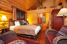 Cabin, King, Bed, Furniture, Home Decor, Homemade Home Decor, Stream Bed, Cabins, Home Furnishings