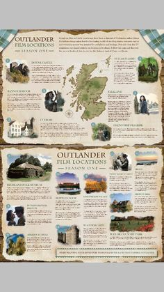 Outlander film locations for Season 1.