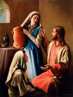 Jesus Christ, Mary and Martha Mary And Martha, Saint Martha, Jesus Christus, Bible Love, Biblical Art, Jesus Pictures, Lds Pictures, God Jesus, Baby Jesus