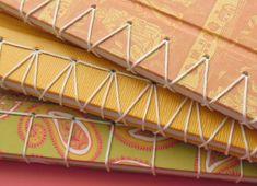 encadernação em crochê de folhas de caderno - Pesquisa Google