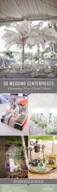30 Stunning Non-Floral Wedding Centerpieces Ideas ❤ See more: http://www.weddingforward.com/non-floral-wedding-centerpieces/ #weddings #decorations
