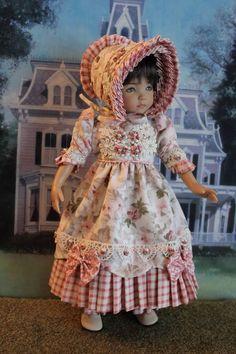 "13"" Effner Little Darling "" MORNING GLORY"" Regency Gown Handmade By SSD #DiannaEffner"