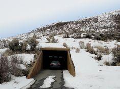 Entrance to underground parking garage