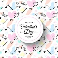 hand-drawn valentine's day pattern in memphis style Free Vector Banners, Design Plano, Free Banner, Memphis Pattern, Love Backgrounds, Illustration Art Drawing, Free Frames, Valentines Day Background, Art Template