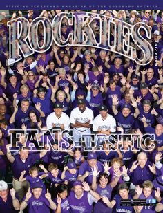 """FANS-TASTIC:"" Carlos Gonzalez, Dexter Fowler and Michael Cuddyer (with Rockies fans), May 2012"