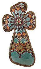 "Sophia's Cross by Laurie Pollpeter Eskenazi (Ceramic Wall Sculpture) (19"" x 9"") Clay Cross, Cross Art, Hand Built Pottery, Pottery Art, Pottery Studio, Pottery Ideas, Heart Wall Art, Ceramic Wall Art, Clay Ornaments"