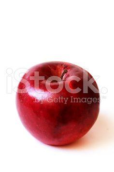 Juicy apple on white background – banque photo libre de droits