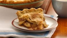 A classic apple pie takes a shortcut with easy Pillsbury® unroll-fill refrigerated pie crust.