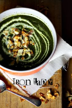The Iron Lady of Soups - SPINACH AND CELERY SOUP
