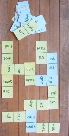 sight word dominoes - love this idea!