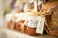 Rustic Country Wedding Favors: Dilly Beans instead
