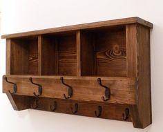 charming cabin coat rack. Entryway  Hallway or Mudroom Coat Rack with Cubbies Wide hat coat rack shelf Wall mounted solid wood display